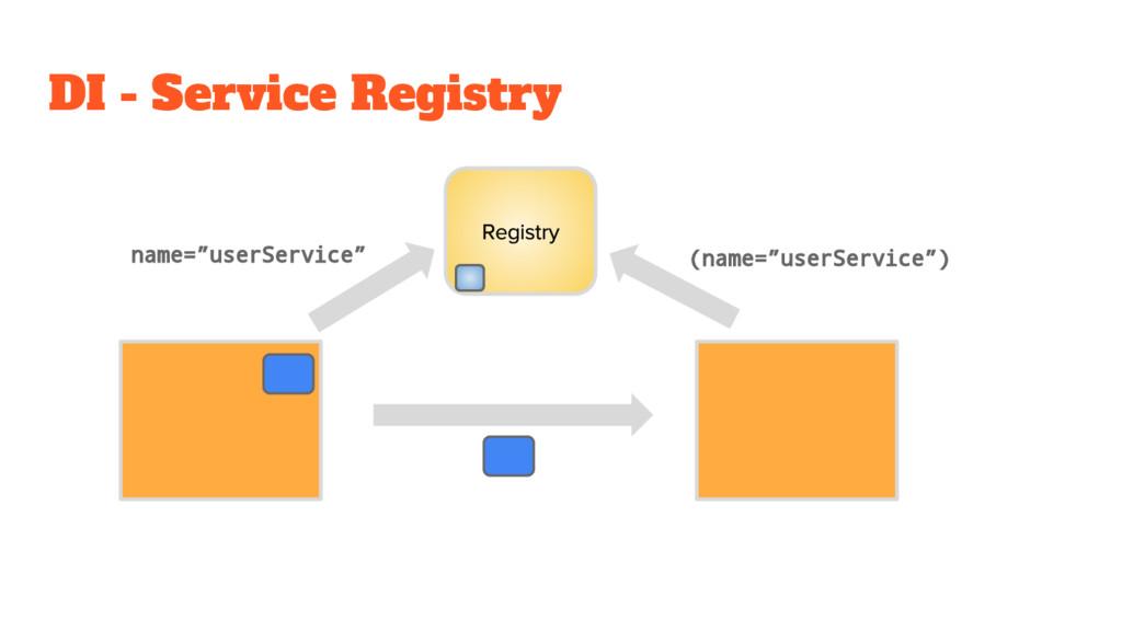 "DI - Service Registry (name=""userService"") name..."