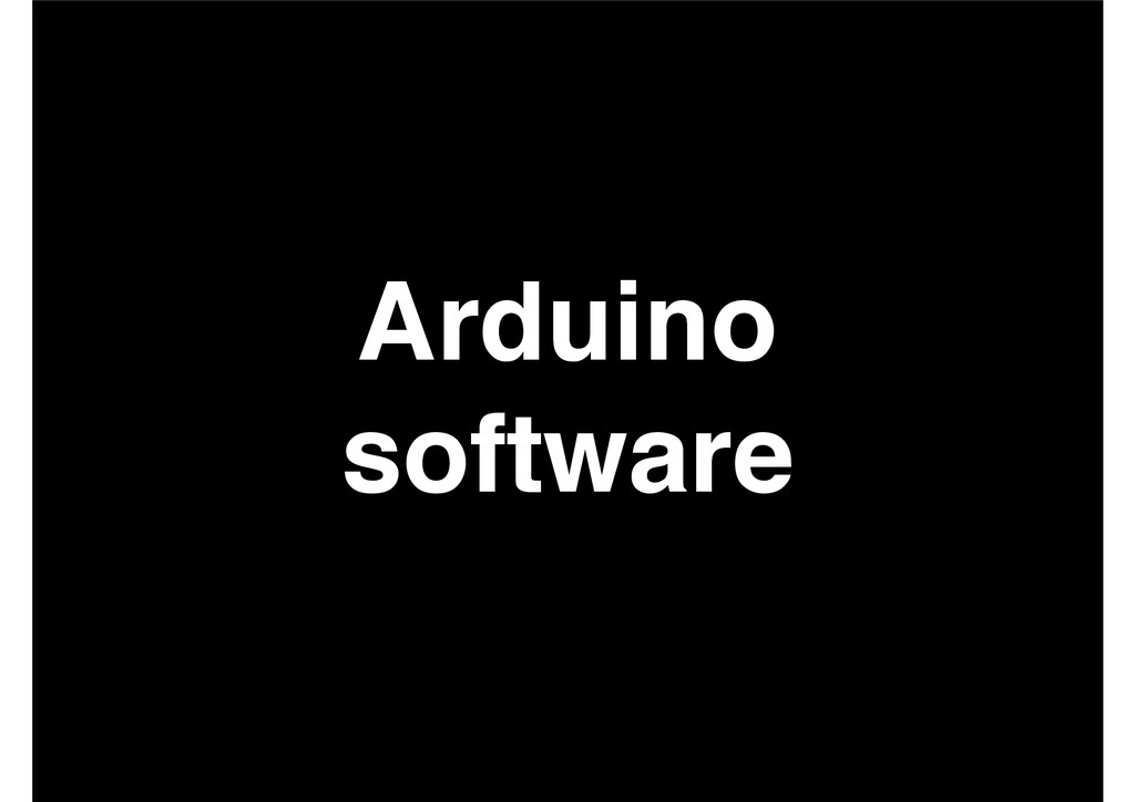 Arduino! software