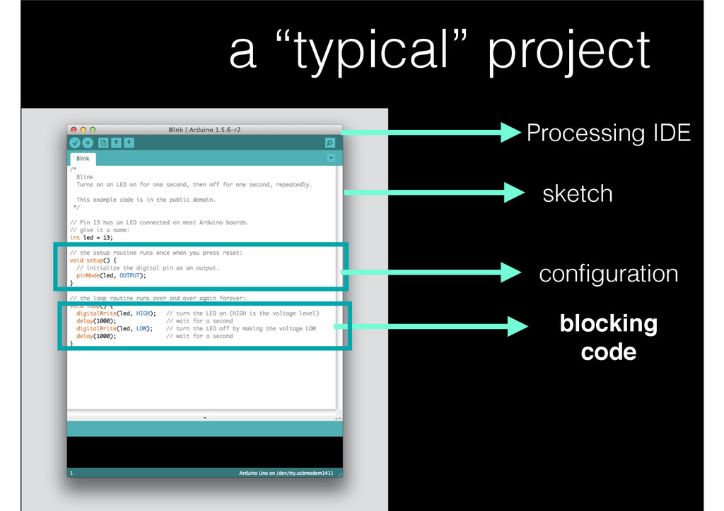 "a ""typical"" project configuration blocking! code..."