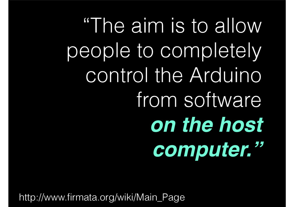 """The aim is to allow people to completely contr..."