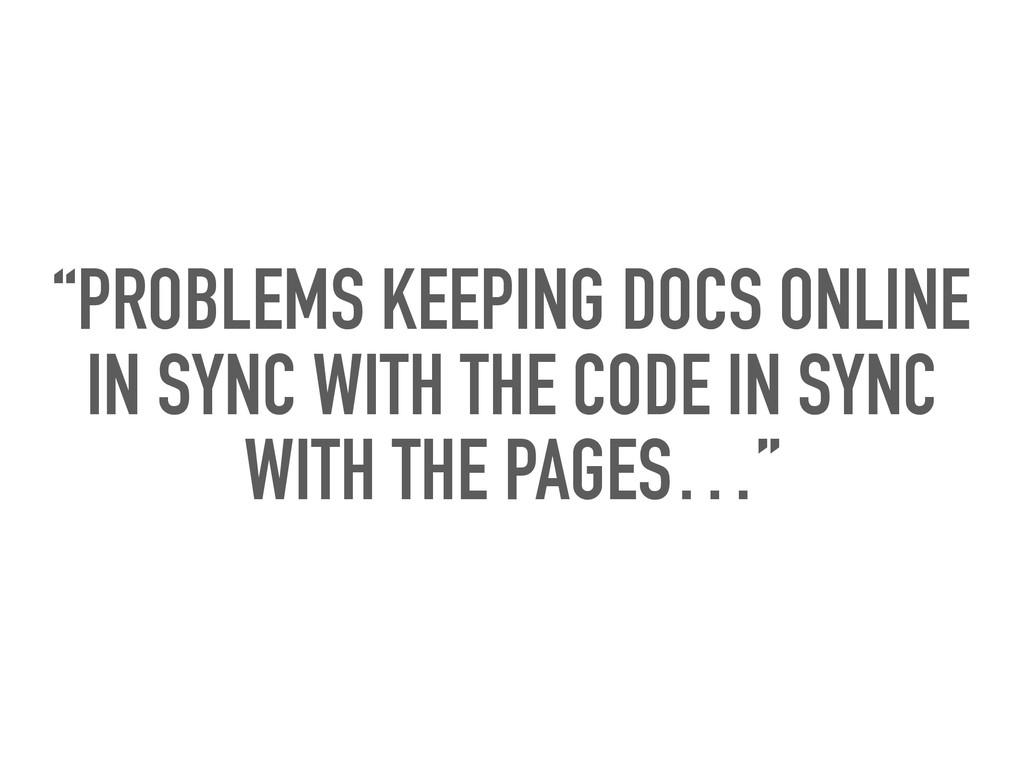 """""""PROBLEMS KEEPING DOCS ONLINE IN SYNC WITH THE ..."""