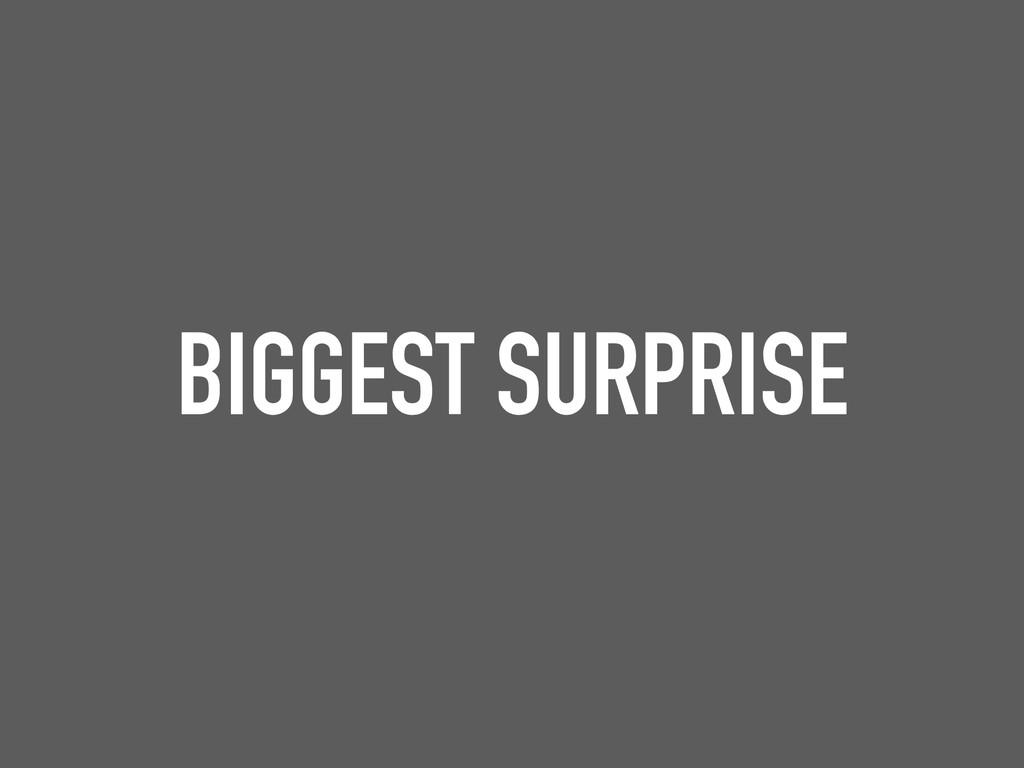 BIGGEST SURPRISE