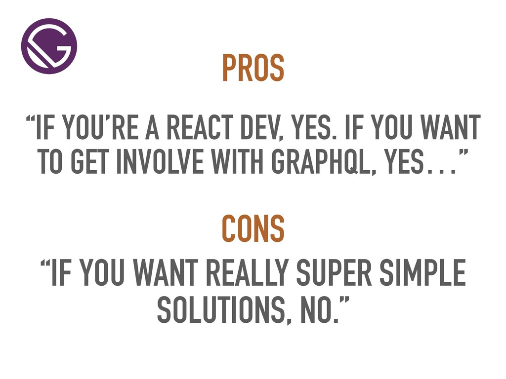 """""""IF YOU'RE A REACT DEV, YES. IF YOU WANT TO GET..."""