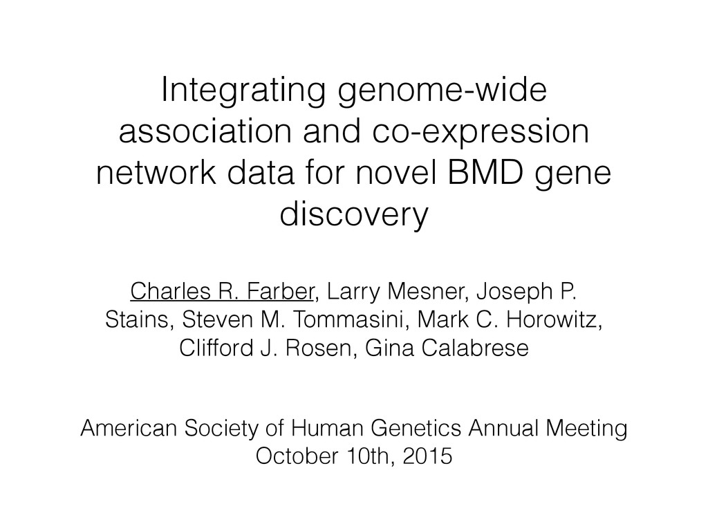 Integrating genome-wide association and co-expr...