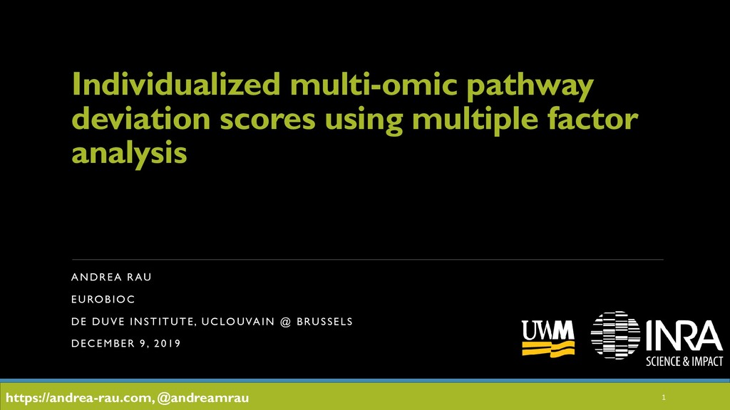 Individualized multi-omic pathway deviation sco...