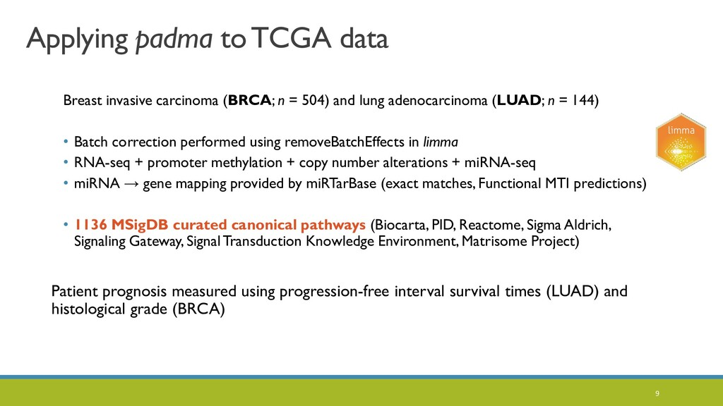 9 Applying padma to TCGA data Breast invasive c...
