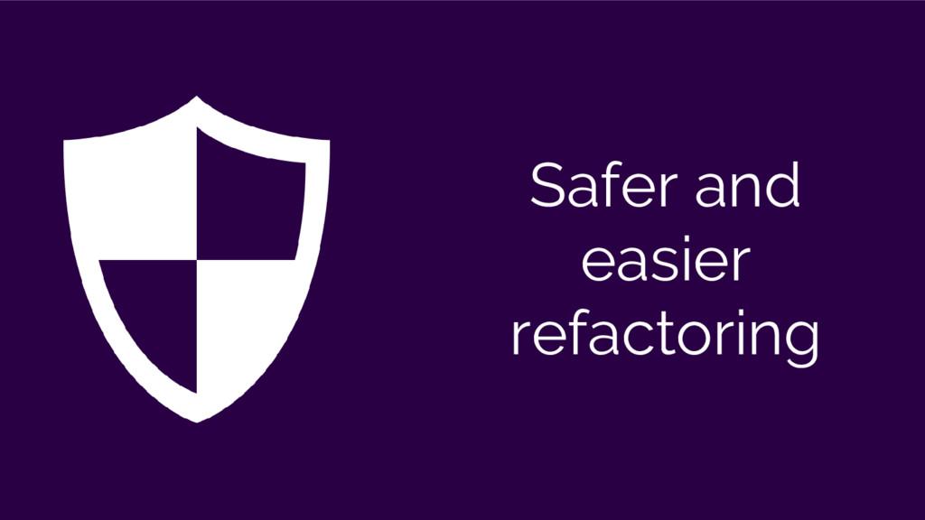 Safer and easier refactoring