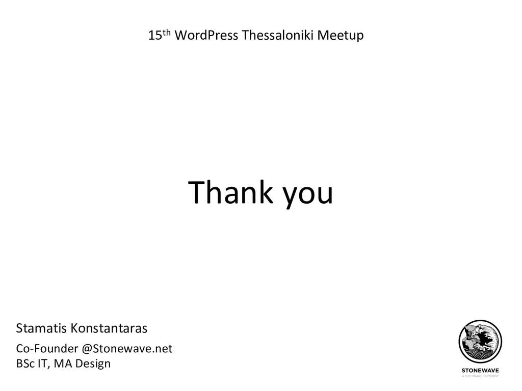 Stamatis Konstantaras 15th WordPress Thessaloni...