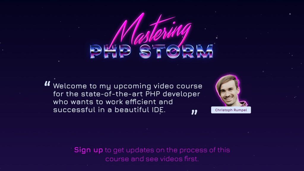 @christophrumpel MASTERING PHPSTROM