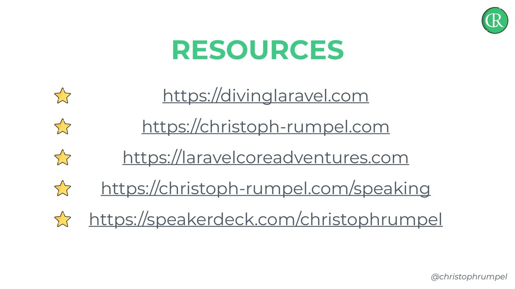 @christophrumpel https://divinglaravel.com http...