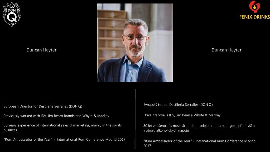 European Director for Destileria Serralles (DON...