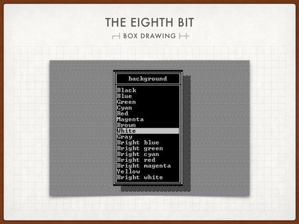 THE EIGHTH BIT ˢ˱BOX DRAWINGˮ˺
