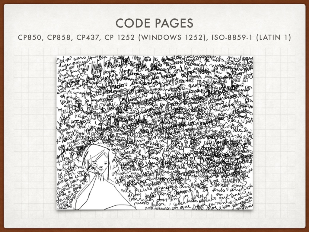 CODE PAGES CP850, CP858, CP437, CP 1252 (WINDOW...