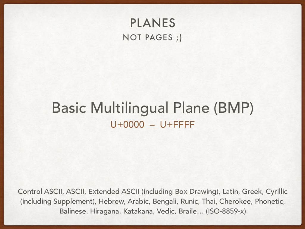 NOT PAGES ;) PLANES Basic Multilingual Plane (B...