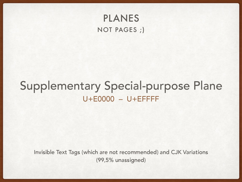NOT PAGES ;) PLANES Supplementary Special-purpo...