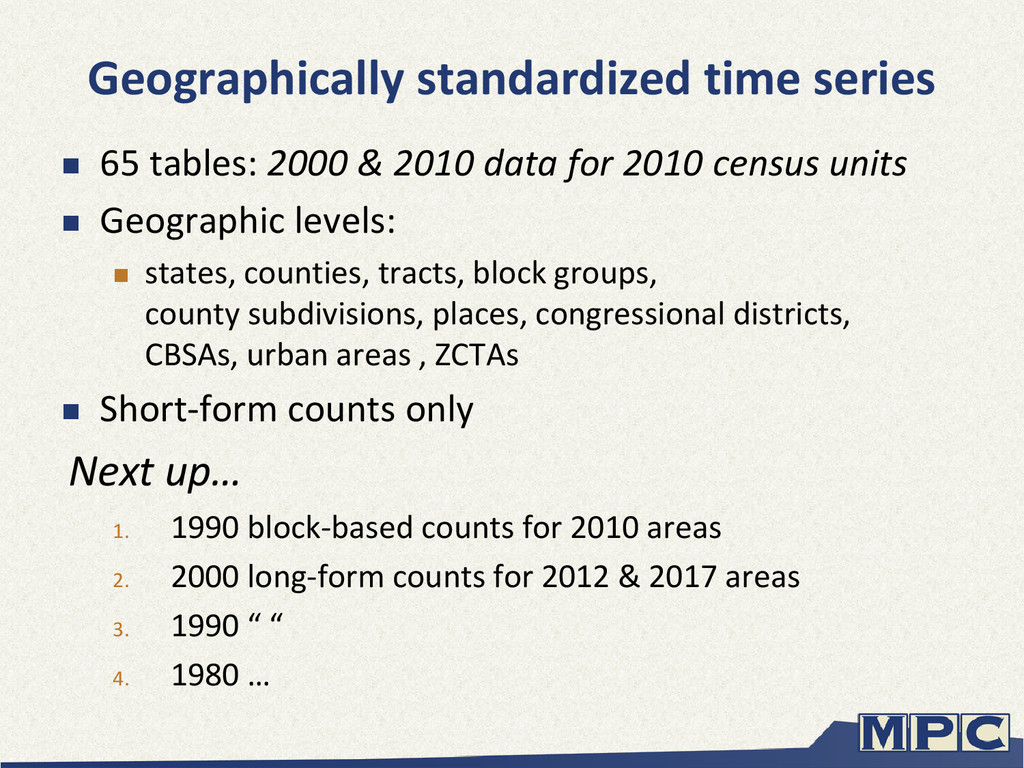 Geographically standardized time series  65 ta...