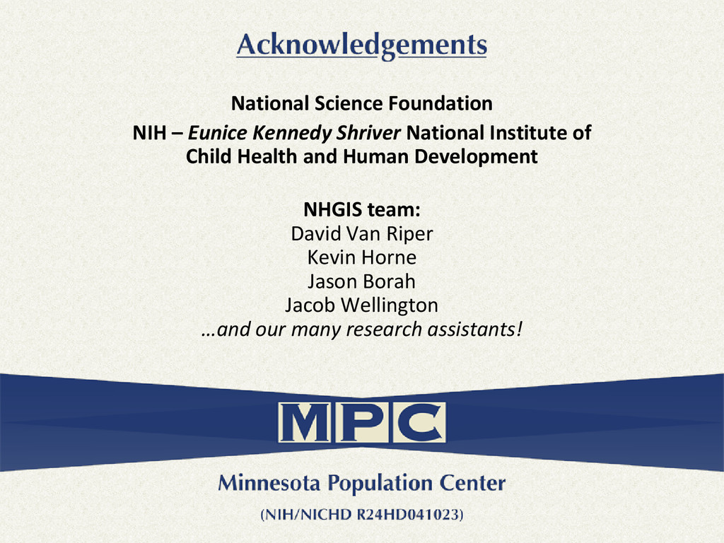 National Science Foundation NIH – Eunice Kenned...