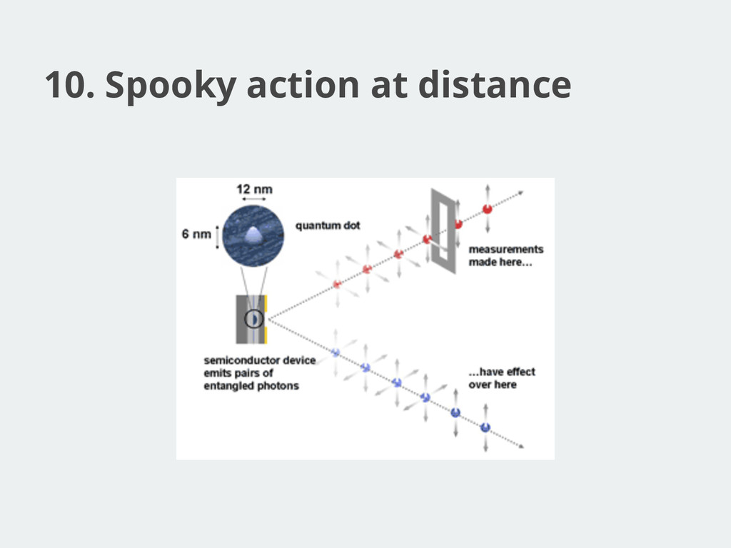 10. Spooky action at distance