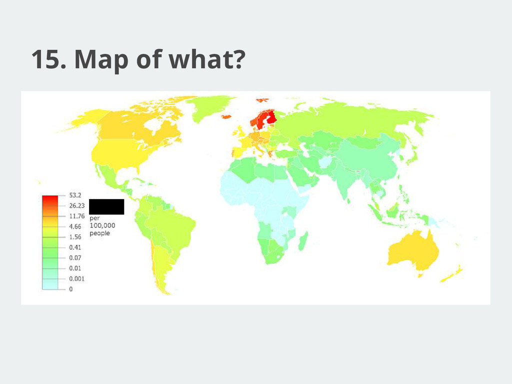 15. Map of what?