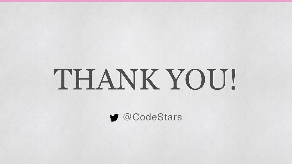 THANK YOU! @CodeStars