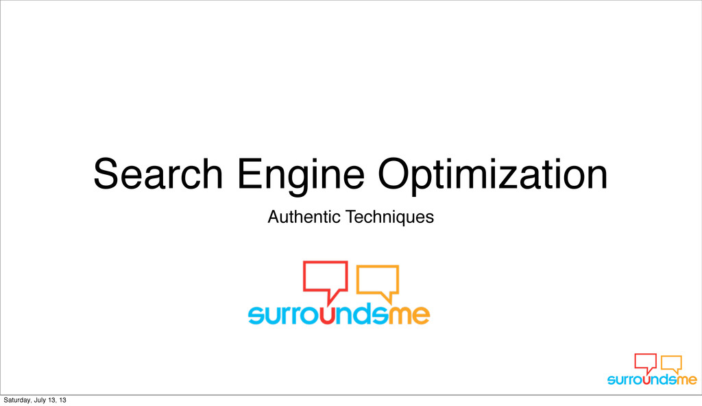 Search Engine Optimization Authentic Techniques...