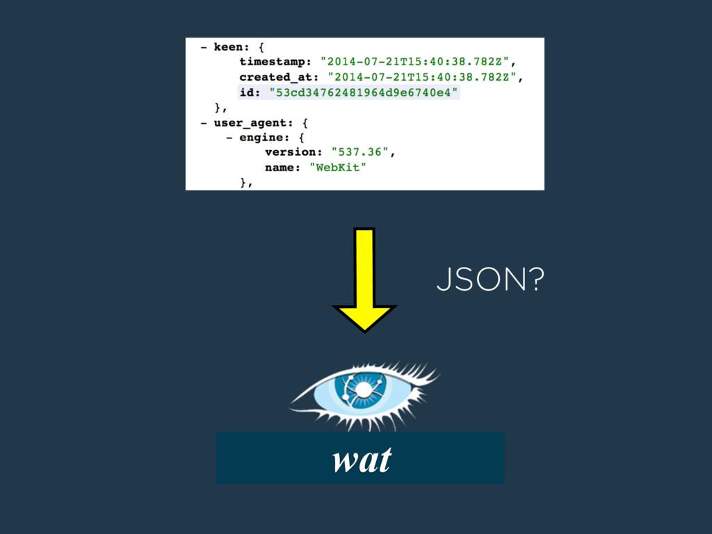 wat JSON?