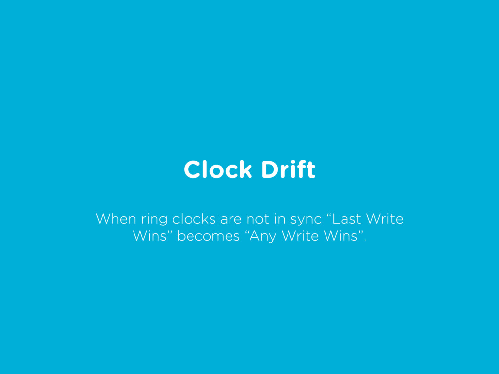 "Clock Drift When ring clocks are not in sync ""L..."