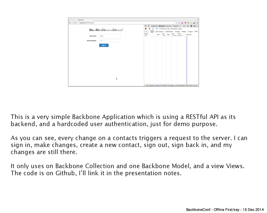 This is a very simple Backbone Application whic...