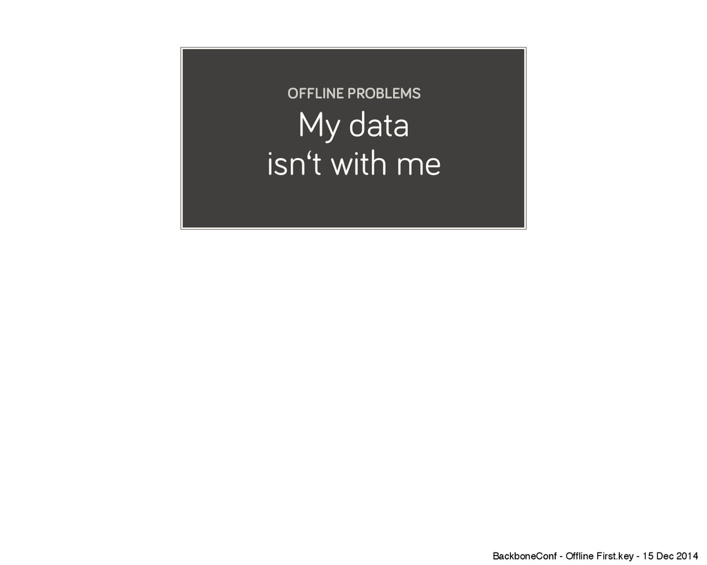 My data isn't with me OFFLINE PROBLEMS Backbone...
