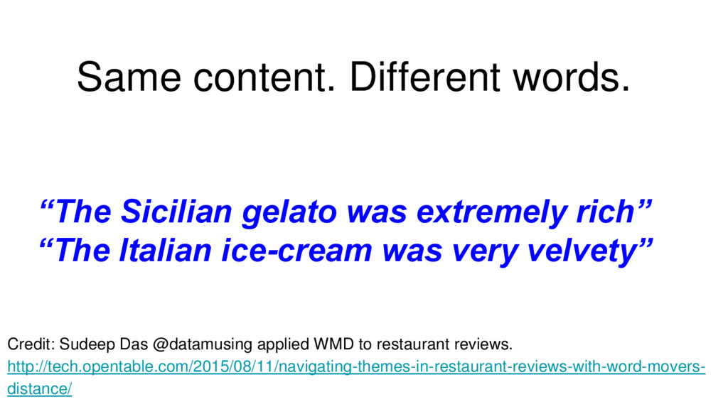 """Same content. Different words. """"The Sicilian ge..."""