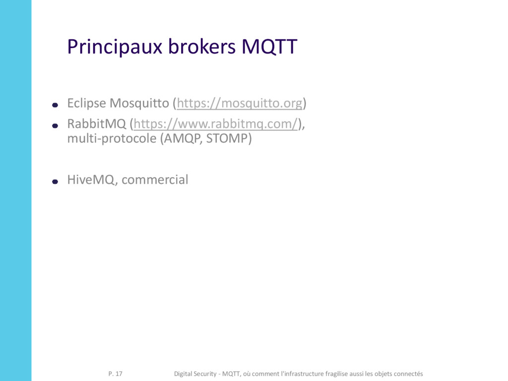 Principaux brokers MQTT Eclipse Mosquitto (http...