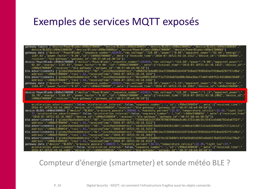 Exemples de services MQTT exposés Compteur d'én...