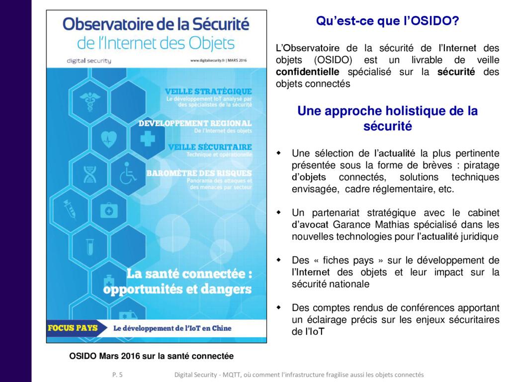 Qu'est-ce que l'OSIDO? L'Observatoire de la séc...
