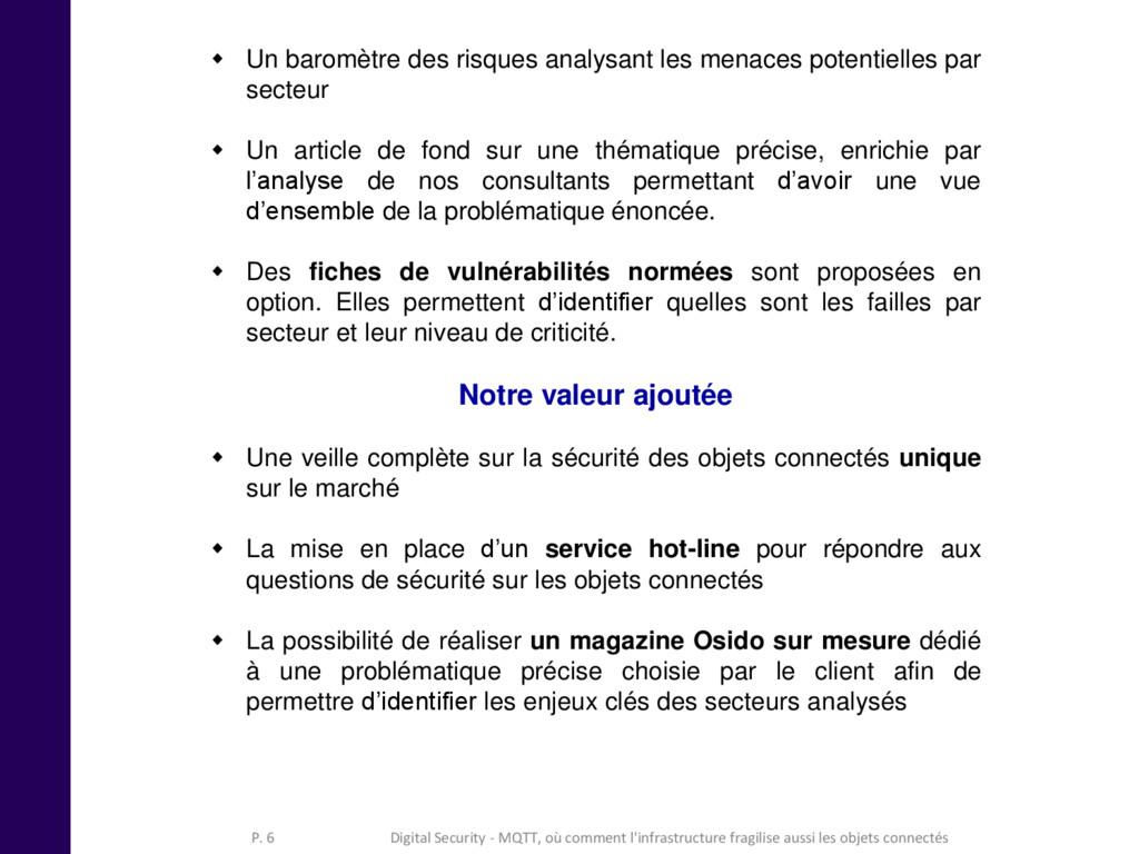 Digital Security - MQTT, où comment l'infrastru...