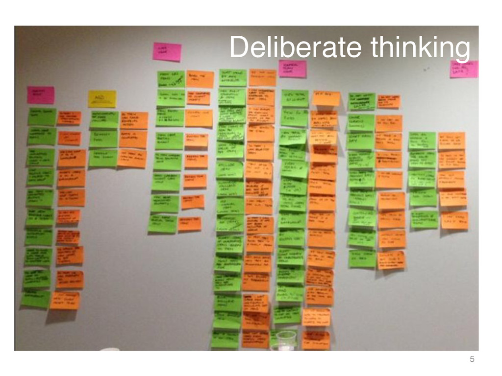 Deliberate thinking ! 5 !