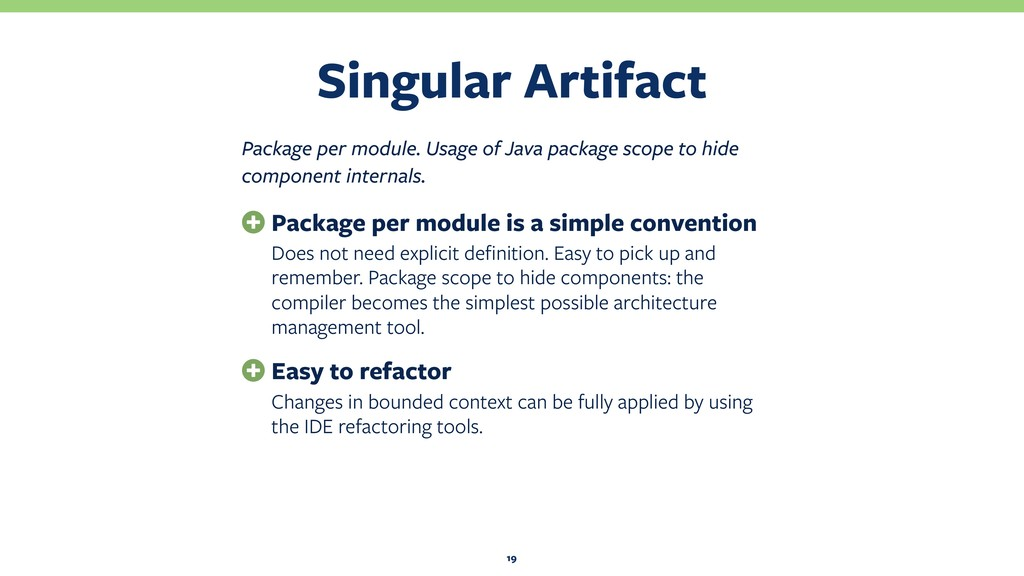 Singular Artifact 19 Package per module. Usage ...