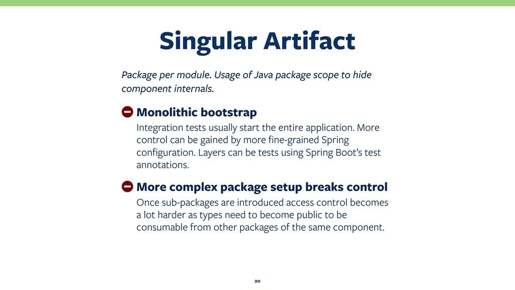 Singular Artifact 20 Package per module. Usage ...