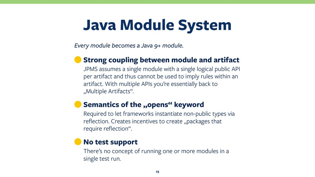 Java Module System 23 Every module becomes a Ja...