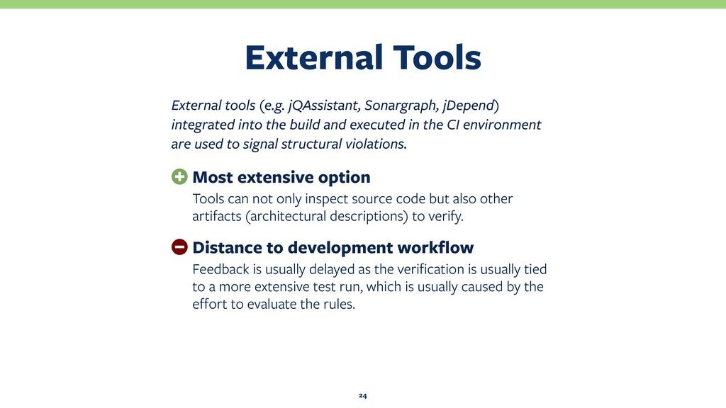 External Tools 24 External tools (e.g. jQAssist...