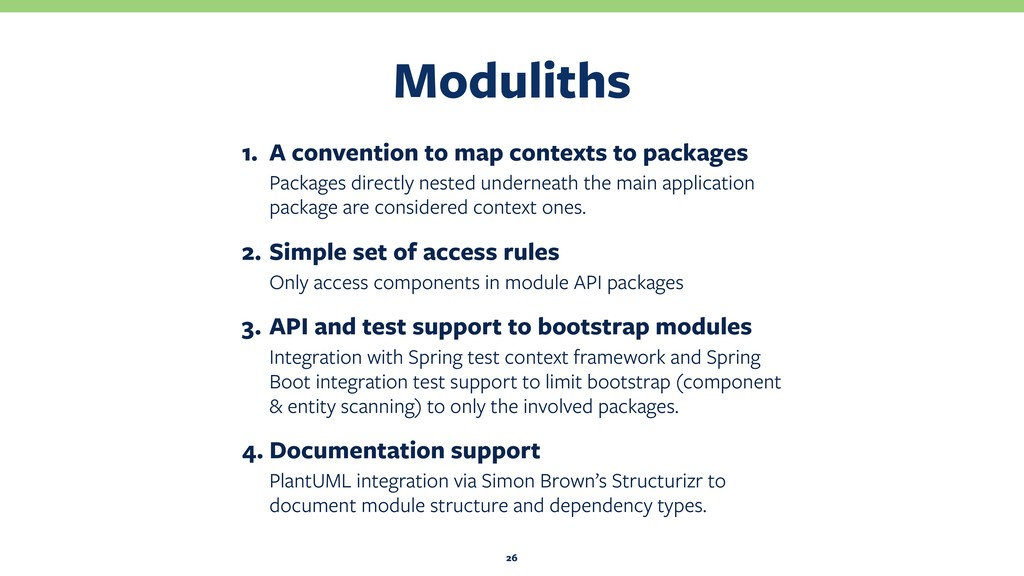 Moduliths 26 1. A convention to map contexts to...