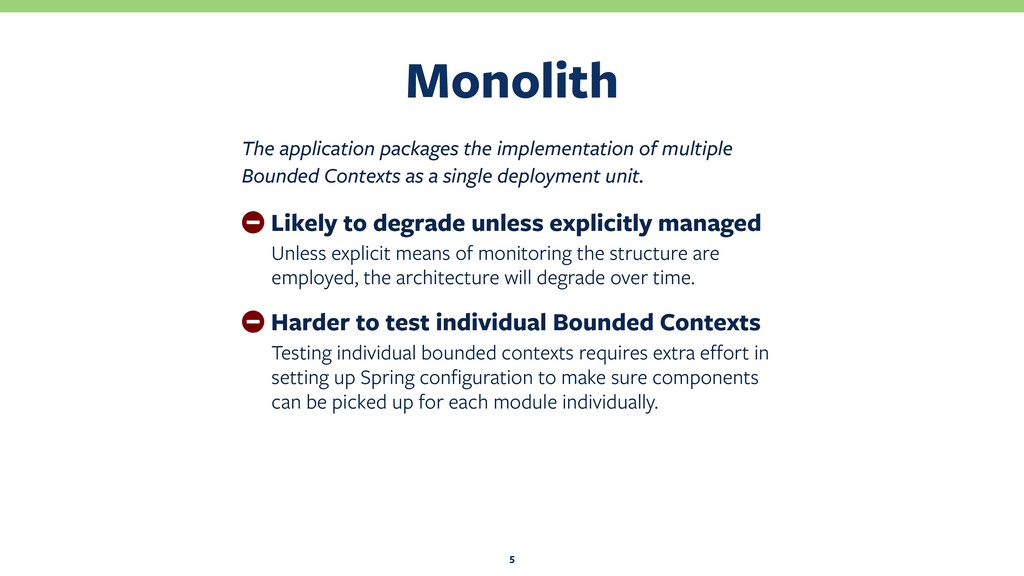 Monolith 5 The application packages the impleme...