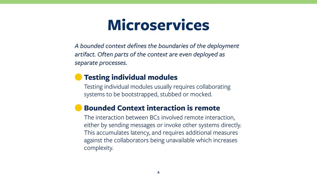 Microservices 6 A bounded context defines the b...