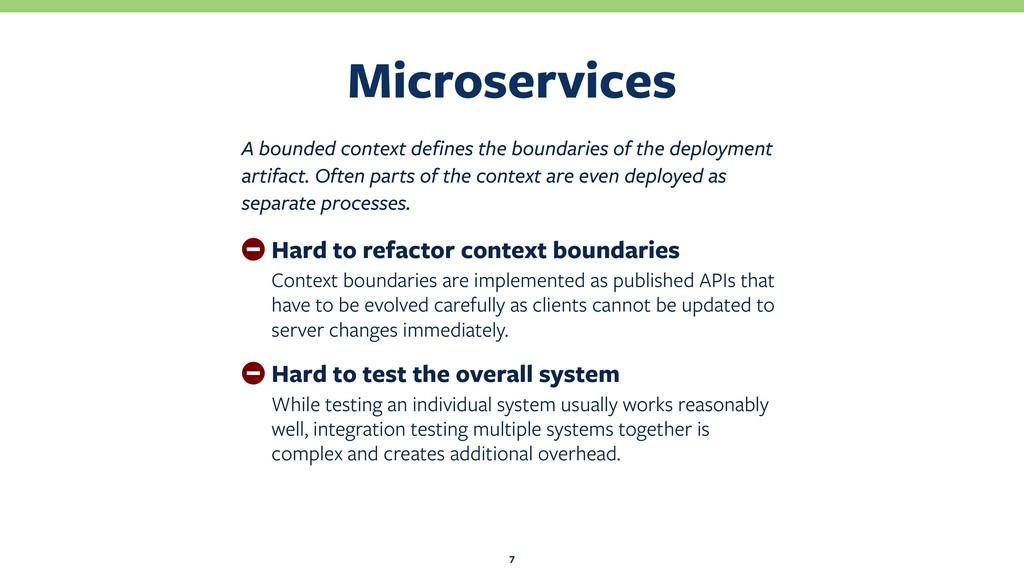 Microservices 7 A bounded context defines the b...