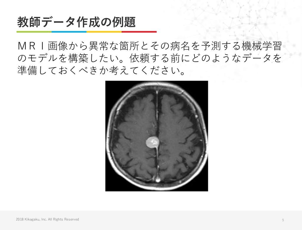 2018 Kikagaku, Inc. All Rights Reserved 教師データ作成...