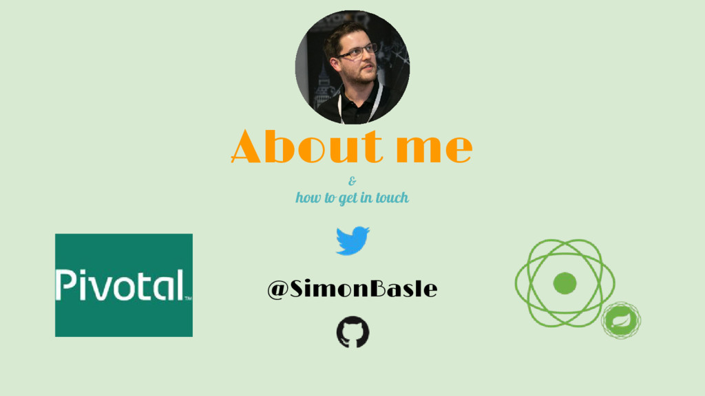 About me & how to get in touch @SimonBasle