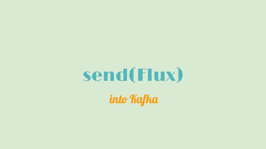 send(Flux) into Kafka