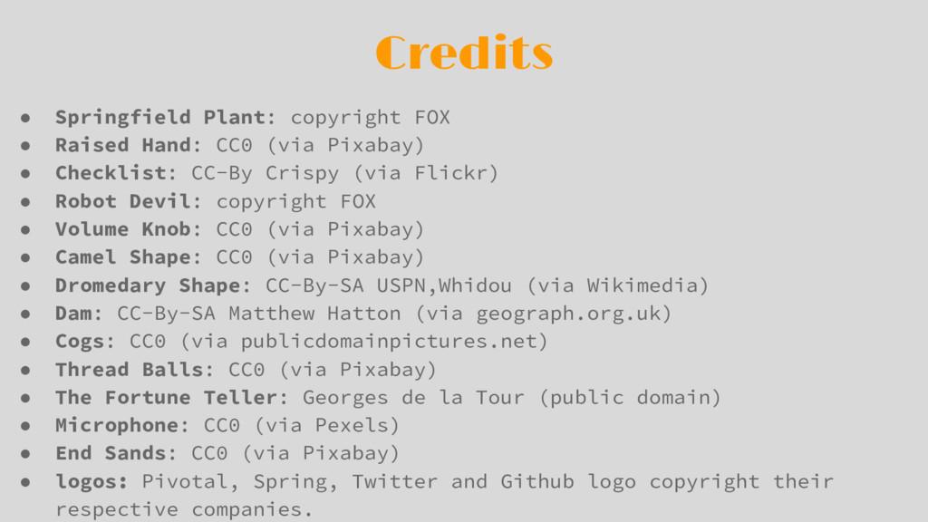 Credits ● Springfield Plant: copyright FOX ● Ra...