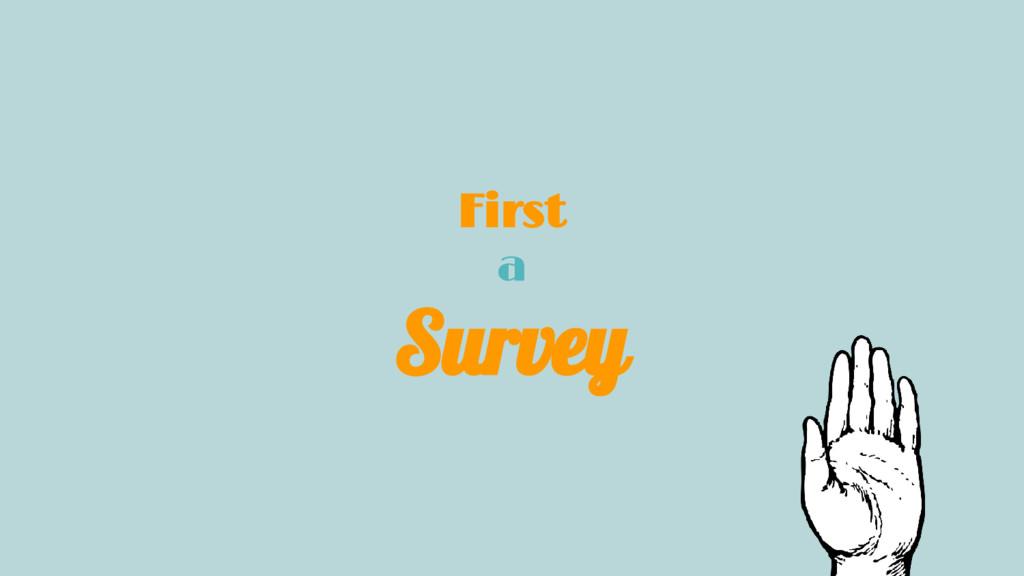 First a Survey
