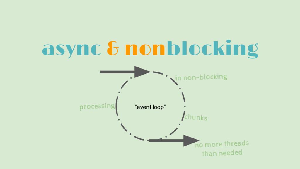 """async & nonblocking """"event loop"""" in non-blockin..."""