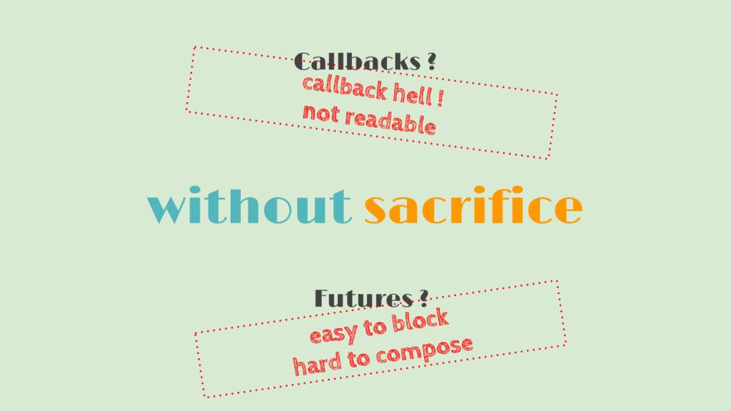 without sacrifice Callbacks ? Futures ? easy to...